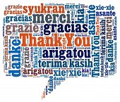 Thank You in word collage