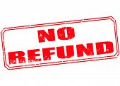 No Refund Stamp
