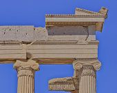 picture of akropolis  - Erechtheion ancient ionian order temple detail - JPG