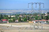 picture of transmission lines  - High voltage transmission lines occupy the utility company - JPG