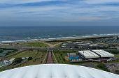 Seaside above view to Durban coast