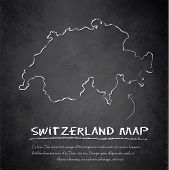 Switzerland map blackboard chalkboard vector
