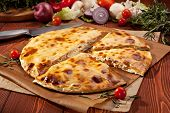 Pizza Calzone with Salmon