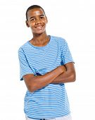Cheerful casual african teenage boy.