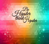 Abstract Hipster  background to use for  Flyers with a lot of abstract design elements, high contrast colors and space for text