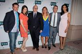LOS ANGELES - MAY 1:  Richard Blais, Gail Simmons, Tom Colicchio, Brooke Williamson, Andy Cohen, Pad