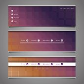 Web Design Elements - Abstract Header Design