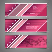 Web Design Elements - Pink Header Design