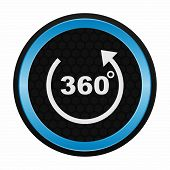 360 degrees icon