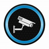 stock photo of cctv  - CCTV camera icon as a symbol of CCTV camera - JPG