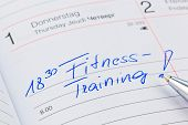 a date is entered on a calendar: exercising