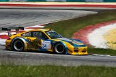 SEPANG, MALAYSIA - MAY 10, 2014: The Porsche car of Kantasak Kusiri takes to the track at the Thaila