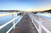 Boardwalk Jetty At Balmoral Beach Early Morning
