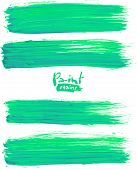 Bright green acrylic brush strokes