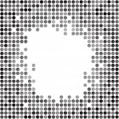 Abstract dotted grayscale background texture