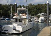 A Boat Docked In Hamilton Island Marina