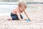 Cute Toddler Baby Boy Playing