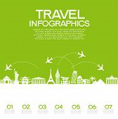 picture of world-famous  - Infographics elements - JPG