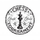 Chess tournament rubber stamp