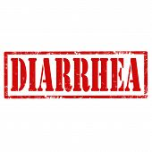 stock photo of diarrhea  - Grunge rubber stamp with text Diarrhea - JPG