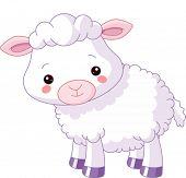 Farm animals. Illustration of cute Lamb