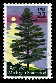 Michigan Us Postage Stamp