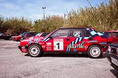 Red Lancia Delta Hf Integral Martini Racing