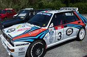 White Lancia Delta Hf Integral