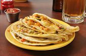 Beef And Chicken Quesadillas