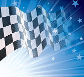picture of sidecar  - Checkered flag - JPG