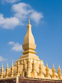 Wat Pha That Luang Monument In Vientiane, Laos