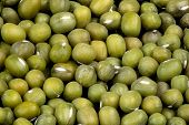 Macro Of Green Mung Beans