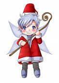 picture of pixie  - Cartoon illustration of character for Christmas - JPG