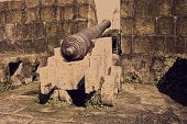 vintage cannon at intramuros