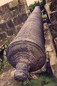 vintage cannon tilted