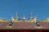 picture of vihara  - dragons and fireball at the roof of Vihara Buddha Prabha Yogyakarta - JPG