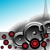 Abstract background with loudspeakers