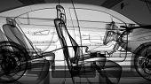 3d Car design 3d car model, wireframe