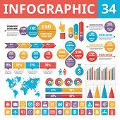Infographic elements - set 34.