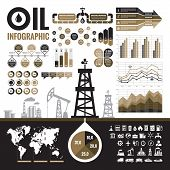 Oil industry - vector infographic elements