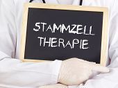 Doctor Shows Information: Stem Cell Therapy In German