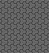 Seamless geometric op art pattern. Vector art.