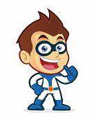 Superhero giving thumbs up
