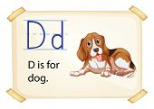 Illustration of d for dog