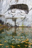 Dying lion monument in Lucerne, Switzerland
