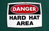 Hard Hat Area.