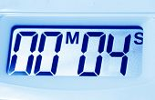 stock photo of tick tock  - Close up of a Digital timer clock