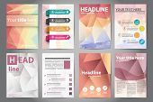 pic of polygon  - Template design brochures Flyers in polygon style - JPG