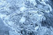 Texture Of River Ice Photographed
