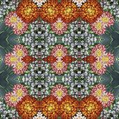 Seamless floral pattern, oil painting